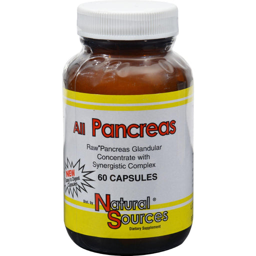 Natural Sources All Pancreas - 60 Capsules