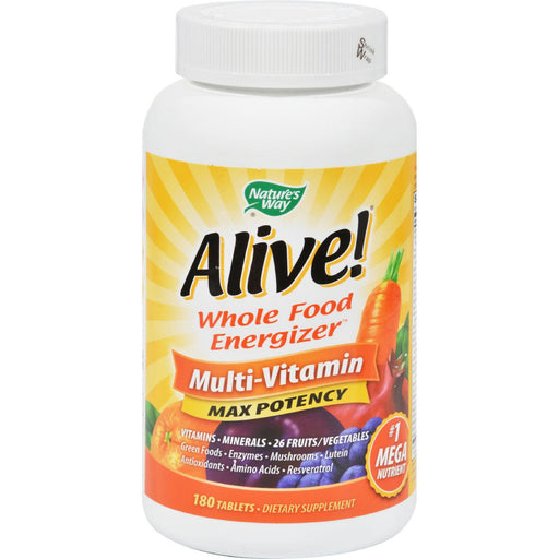 Nature's Way Alive Whole Food Energizer Multi-vitamin - 180 Tablets