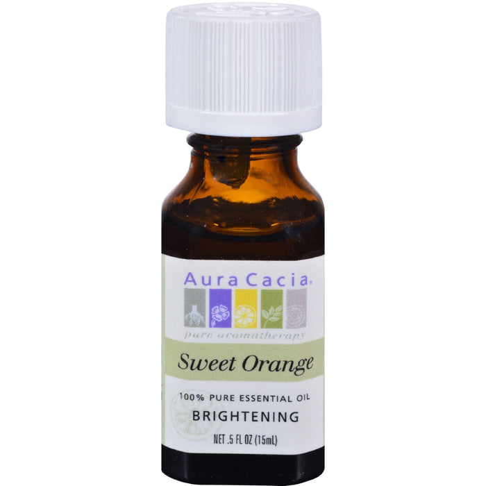 Aura Cacia Essential Oil Sweet Orange - 0.5 Fl Oz