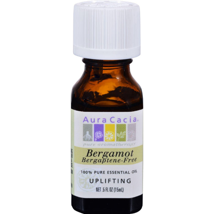 Aura Cacia Pure Essential Oil Bergamot - 0.5 Fl Oz