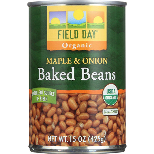Field Day Beans - Organic - Baked - Maple And Onion - 15 Oz - Case Of 12