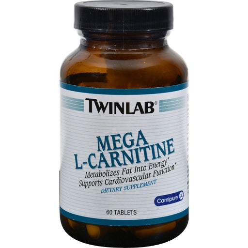Twinlab Mega L-carnitine - 500 Mg - 60 Tablets