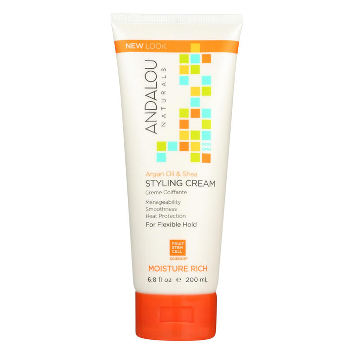Andalou Naturals Argan Oil And Shea Styling Cream - 6.8 Fl Oz