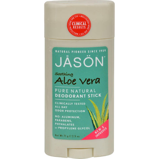 Jason Deodorant Stick Pure Natural Aloe Vera - 2.5 Oz