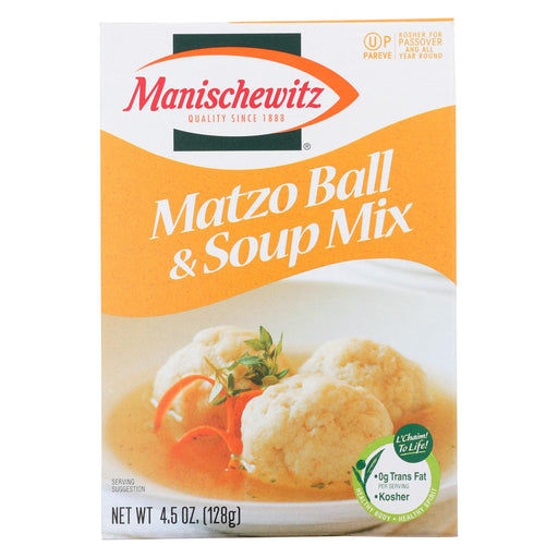 Manischewitz Matzo Ball And Soup Mix - Case Of 24 - 4.5 Oz.