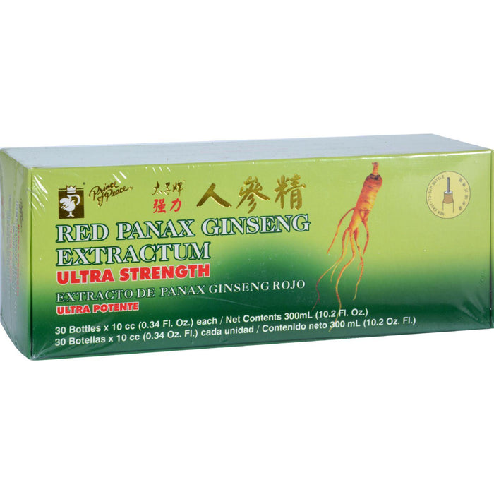 Prince Of Peace Red Panax Ginseng Extractum Ultra Strength - 30 Vials