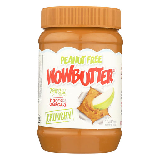 Wow Butter Tastes Just Like Peanut Butter - Toasted Soy Spread Crunchy - Case Of 6 - 17.6 Oz.