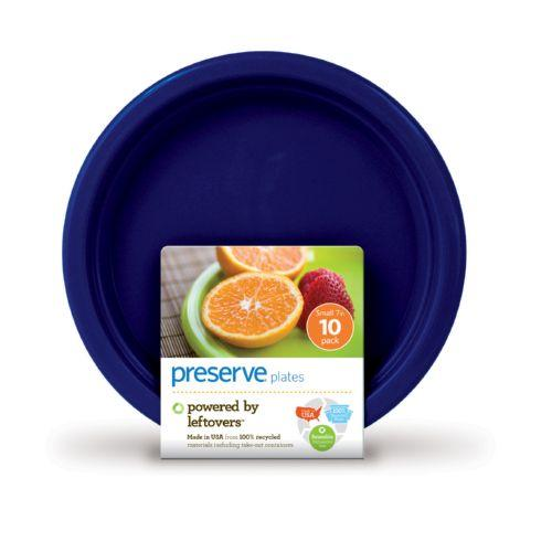 Preserve On The Go Small Reusable Plates - Midnight Blue - 10 Pack - 7 In