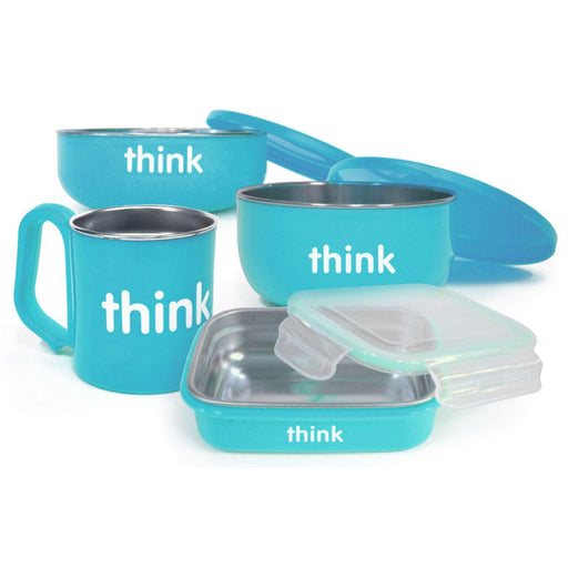 Thinkbaby Feeding Set - Bpa Free - The Complete - Light Blue - 1 Set