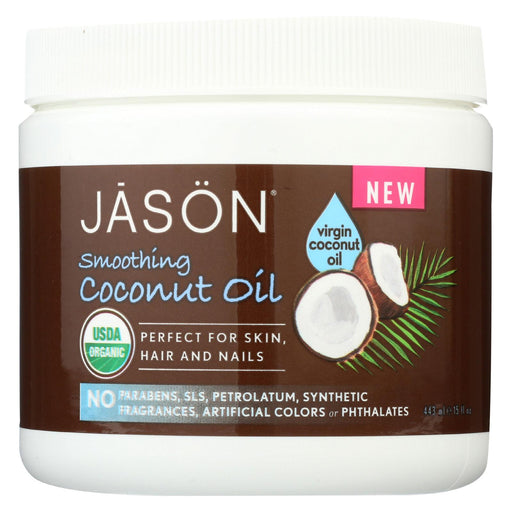 Jason Natural Products Coconut Oil - Organic - Virgin - 15 Fl Oz