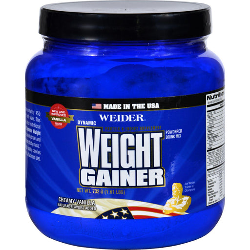 Weider Global Nutrition Weight Gainer - Dynamic - Powder - Vanilla - 1.65 Lb