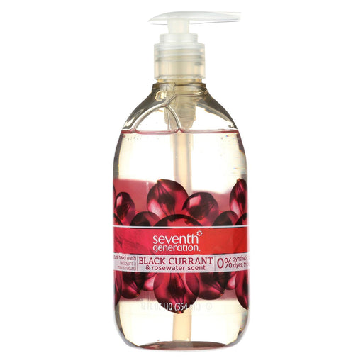 Seventh Generation Natural Hand Wash - Black Currant And Rosewater - Case Of 8 - 12 Fl Oz.