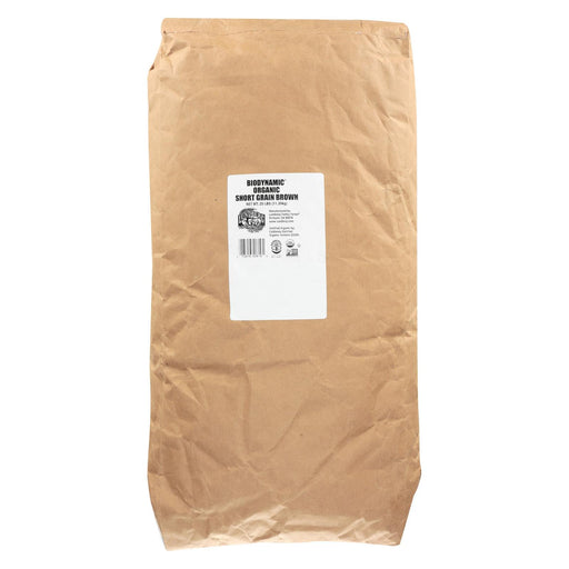 Lundberg Family Farms Organic Rice - Brown Short Grain - 25 Lb.