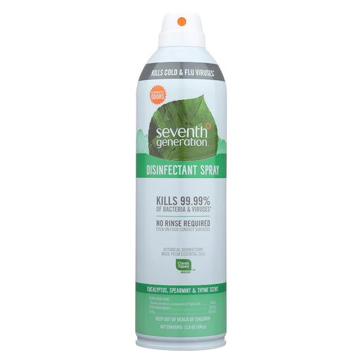 Seventh Generation Spray Disinfectant - Eucalyptus Spearmint Thyme - Case Of 8 - 13.9 Oz