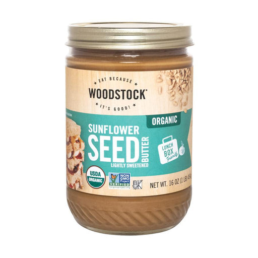 Woodstock Organic Sunflower Seed Butter - Lightly Sweetened - 16oz.