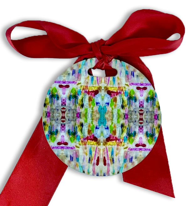 Floral Parade Round Acrylic Ornament