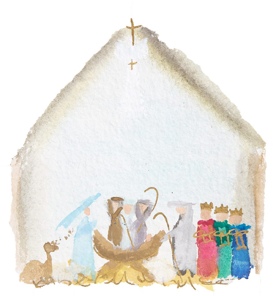 Nativity Watercolor