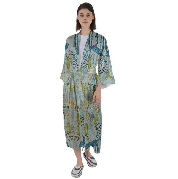 Leopard Tokyo Chinoiserie Robe