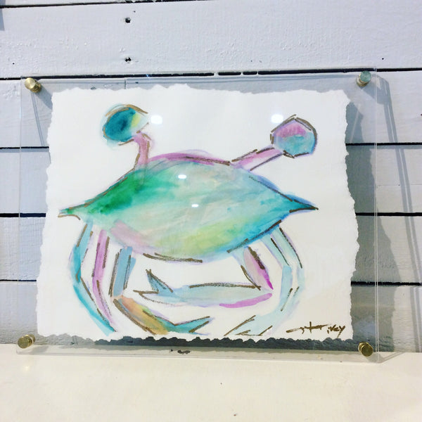 Watercolor crab