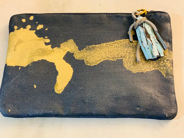"Navy ""Helen"" makeup bag"