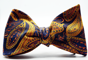 Blue Sun Self Tie Bow And Pocket Square - J.Cooper Classic Neckwear & Accessories