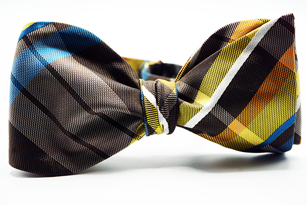 Plaid Self Tie Bow Tie And Pocket Square - J.Cooper Classic Neckwear & Accessories