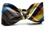 Plaid Self Tie Bow Tie And Pocket Square
