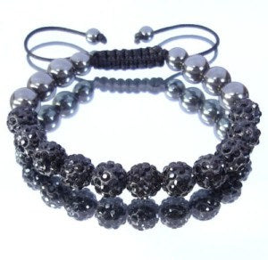 Black Sequence Disco Ball Bracelet