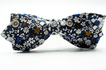 Blue White ButterFly Bow