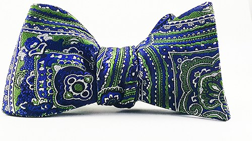 Blue Lagoon Self Tie Bow Tie And Pocket Square - J.Cooper Classic Neckwear & Accessories