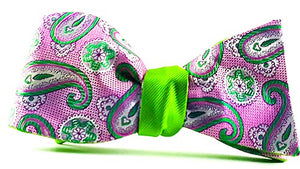 Venus Fly Trap Reversible Self Tie Bow Tie - J.Cooper Classic Neckwear & Accessories