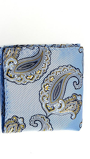 Paisley Blue Azure White Yellow - JCC