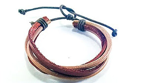 Tan Leather Layer Bracelet - J.Cooper Classic Neckwear & Accessories