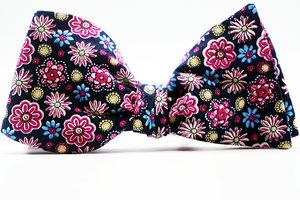 Plumbago Floral Bow Tie & Pocket Squares - J.Cooper Classic Neckwear & Accessories