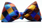 Kaleidoscope Plaid Self Tie Bow Tie And Pocket Square