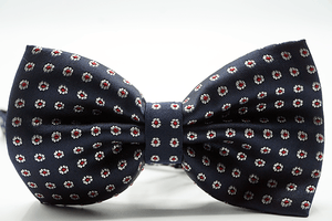 Blue Burgundy Micro Flower Bow Tie - J.Cooper Classic Neckwear & Accessories