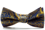 Paisley Blue Gold Bow Tie - J.Cooper Classic Neckwear & Accessories