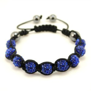Dark Blue Shambhalla Disco Ball Bracelet - J.Cooper Classic Neckwear & Accessories