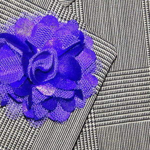 Purple Mesh Lapel Flower - J.Cooper Classic Neckwear & Accessories