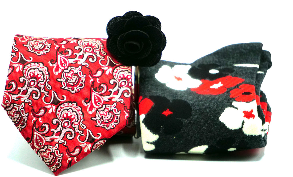 The Rosa Garden Combination - J.Cooper Classic Neckwear & Accessories