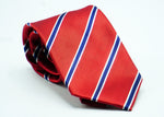 Red Blue Striped Silk Necktie - J.Cooper Classic Neckwear & Accessories