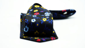 Black Red Yellow Floral Necktie - J.Cooper Classic Neckwear & Accessories