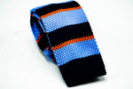 Light Blue Black Knit Necktie - J.Cooper Classic Neckwear & Accessories