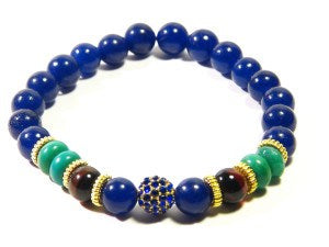 Blue Natural Stone Disco Ball Bracelet - J.Cooper Classic Neckwear & Accessories