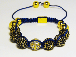 Blue Gold Disco Ball Shambhalla Bracelet - J.Cooper Classic Neckwear & Accessories