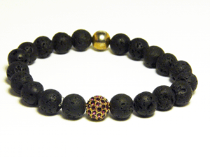 Lava Rock Disco Ball Bracelet - J.Cooper Classic Neckwear & Accessories