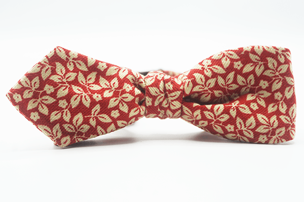 Red Cream Butterfly Self Tie Bow - J.Cooper Classic Neckwear & Accessories