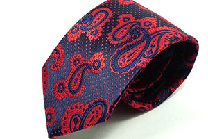Roaming Robin Red Paisley Silk Tie - J.Cooper Classic Neckwear & Accessories
