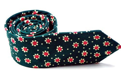 Green Carnation Floral Necktie & Pocket Square - J.Cooper Classic Neckwear & Accessories