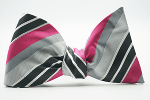 Ted Albert Stripe Bow Tie and Pocket Square